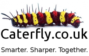 Caterfly Logo slogan url